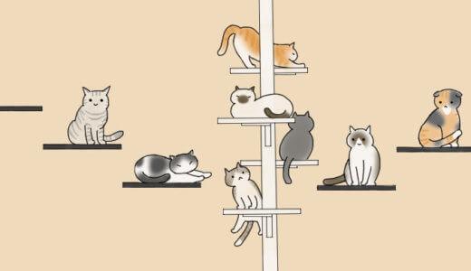 キャットタワーの手作り方法を紹介します!ディアウォールと2×4材(ツーバイフォー材)使用