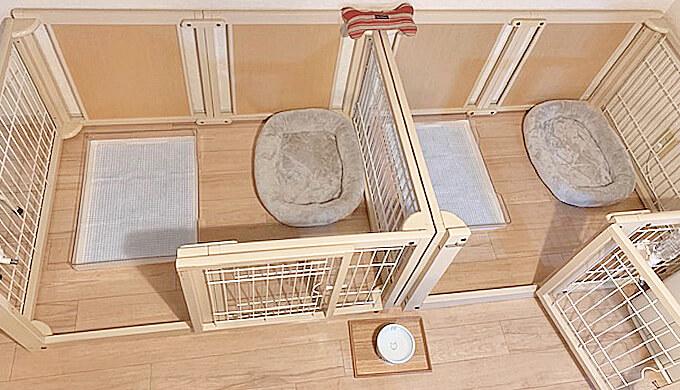 犬用のケージ トイレ